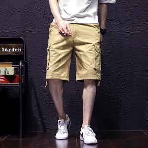 18夏薄款多口袋工装裤中裤户外运动休闲裤短裤子男式大码1323-P40