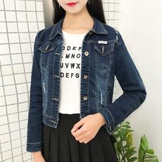 实拍牛仔外套女春秋短款宽松显瘦开衫上衣学生韩版新款修身长袖女