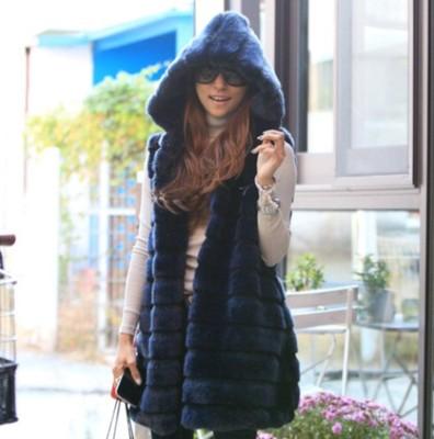 2017 mới mùa thu và mùa đông lông vest trong phần dài của phiên bản Hàn Quốc của trùm đầu Mỏng giống như thỏ mùa thu và mùa đông áo khoác lông phụ nữ Faux Fur