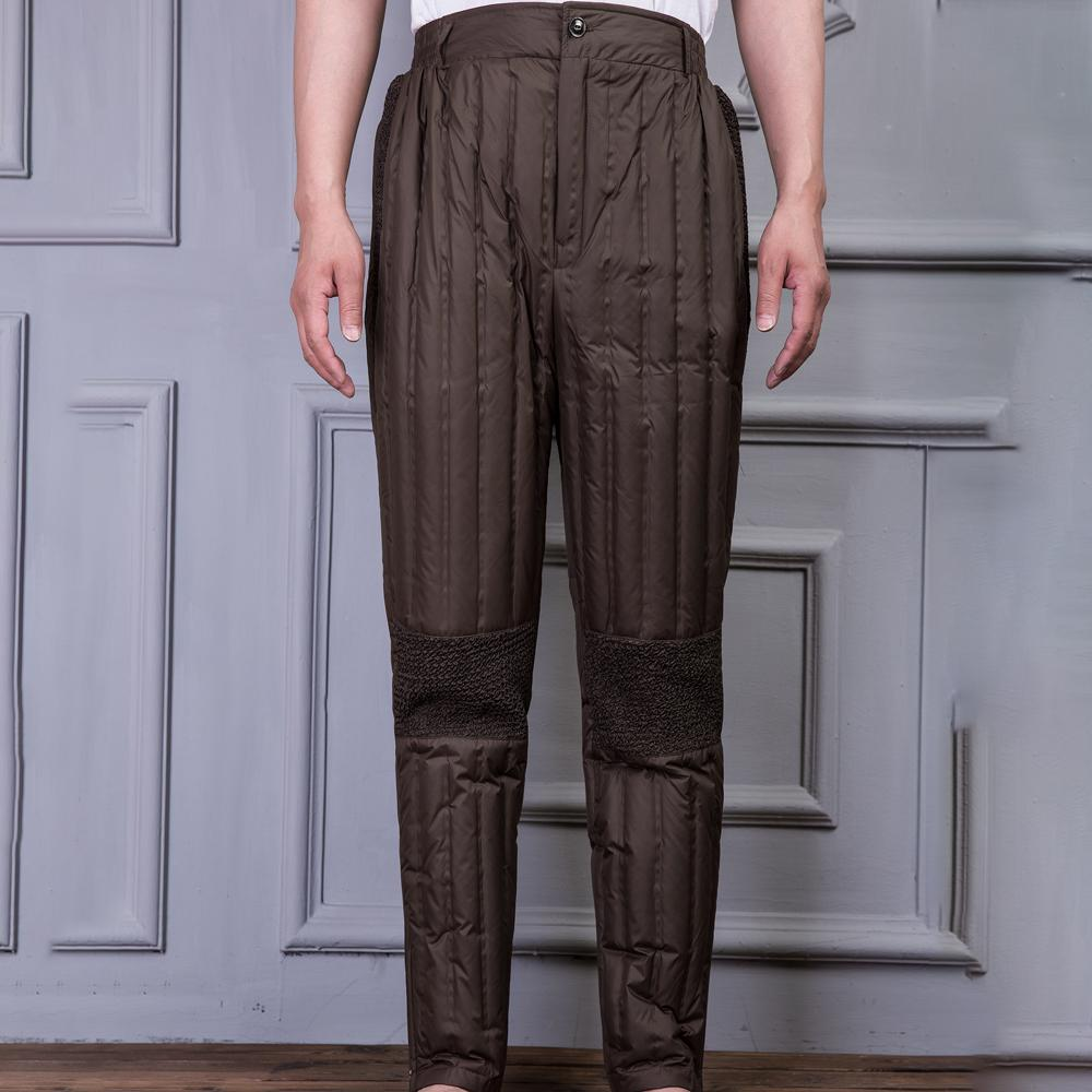 Cha trung niên mặc một ánh sáng và eo cao liền mạch xuống quần lót lớn kích thước cũ vịt xuống quần ông nội