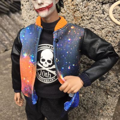 taobao agent Four-point six-point bjd starry sky jacket trendy doll soldier small cloth rivet starry sky cotton and leather sleeve jacket
