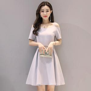 837#【实拍】2017新款夏季韩版时尚女装气质淑女端庄大气连衣裙