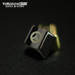 Yuyoushe Xem Pioneer Blizzard Carnival trò chơi vật lý môi trường xung quanh Vàng và bạc bàn phím cơ khí kim loại keycap