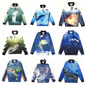 10 bcf thực tế cá lớn in hoang dã câu cá câu cá kem chống nắng dài tay T-Shirt