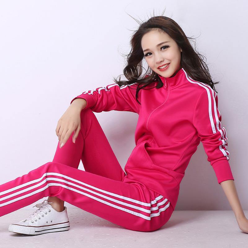 Thể thao phù hợp với nữ 2018 mùa xuân và mùa thu mới quần áo sinh viên nữ thể thao kích thước lớn Hàn Quốc phiên bản của tự trồng giản dị áo len