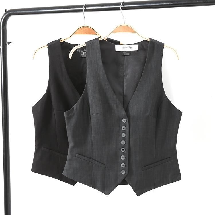 Bên ngoài DAN! Đẹp trai đoạn ngắn tay phù hợp với nhỏ vest của phụ nữ chuyên nghiệp tự trồng đơn ngực vest vest vest