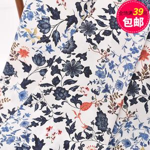 Nhập khẩu bông vải vải cotton hoa chi nhánh cao cotton váy áo sơ mi ăn mặc trẻ em mặc quần của nhãn hiệu DIY