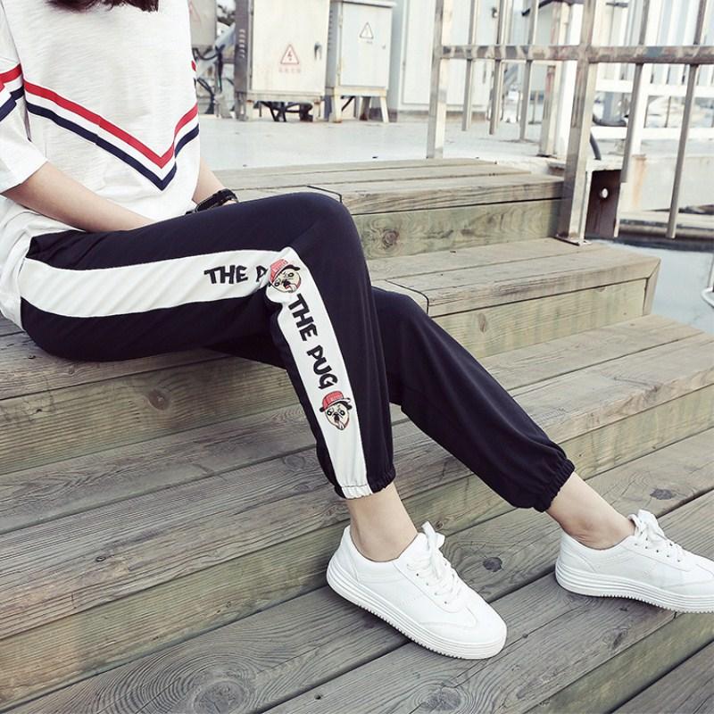 2018 mùa xuân, mùa hè và mùa thu, Hàn Quốc phiên bản của phần mỏng thể thao quần mỏng, chân của phụ nữ, quần dài, quần mỏng, quần hậu cung giản dị