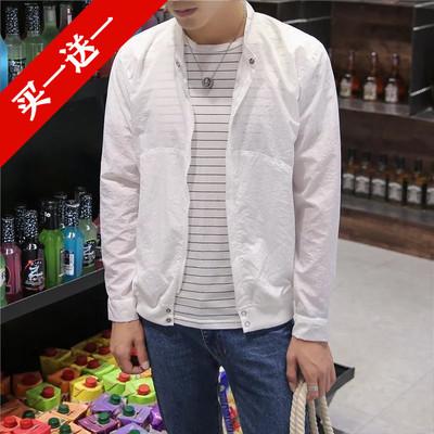 Mùa hè quần áo chống nắng trai casual breathable áo khoác Hàn Quốc thanh niên mùa hè áo khoác nam triều mỏng đồng phục bóng chày