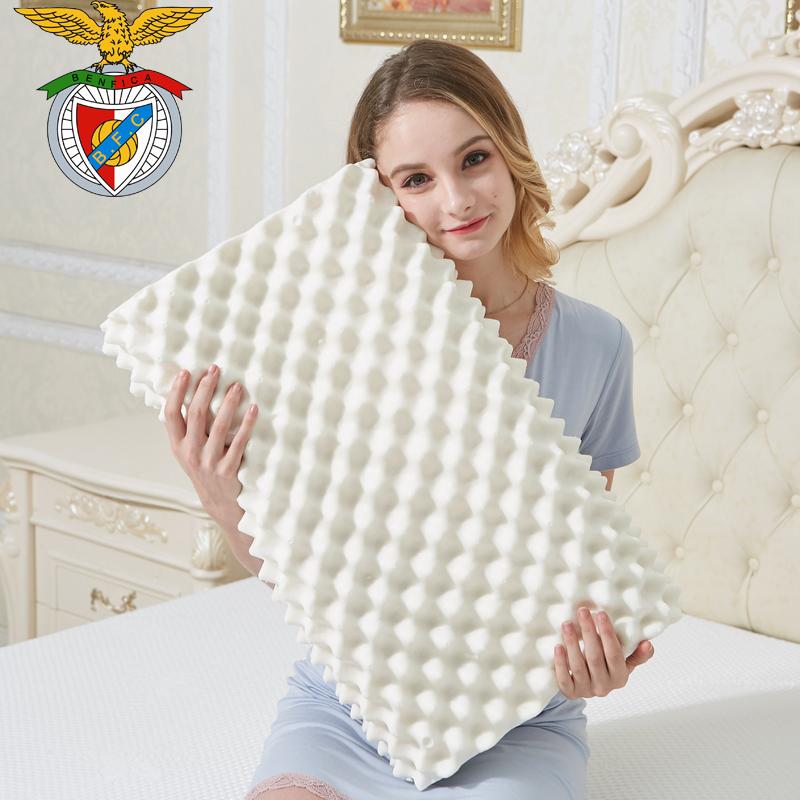 【送枕套】纯天然乳胶枕枕芯养护颈椎保健高低枕头橡胶枕单
