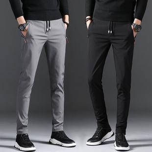 春季新款男士直筒修身韩版小脚休闲裤