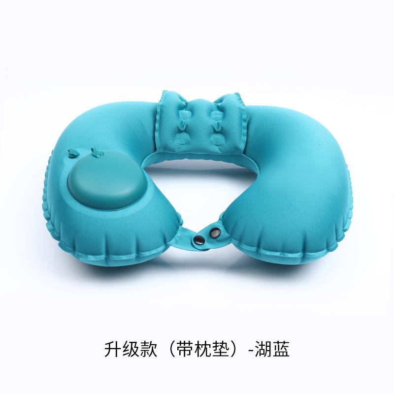 【Подушка подушка П-образная подушка】Milk Shreds-Lake синий без Раздавать