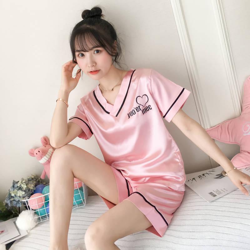 【速抢~】可爱性感冰丝睡衣2件套