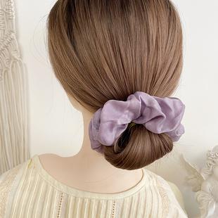 熙熙酱大肠圈发圈ins风女韩国网红发带法式复古头花绸缎绑发头绳