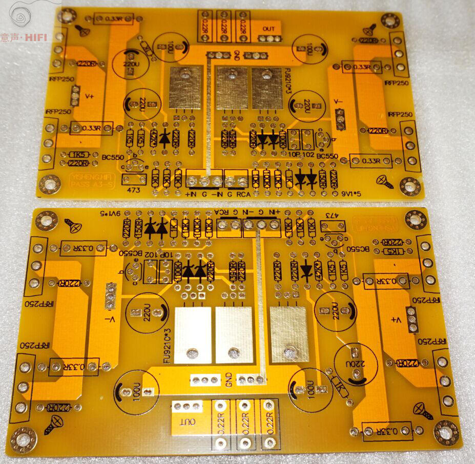 Pass A3 Hifi Single Ended Class A Amplifier Balanced Input Set Of 25w Audio With Mosfet 2 Pcb Ebay
