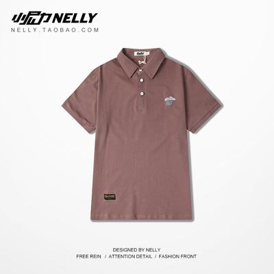 Đơn giản thêu cơ bản logo màu Rắn polo áo sơ mi giản dị ngắn tay ve áo T-Shirt mùa hè nam giới và phụ nữ hip-hop active shirt Polo