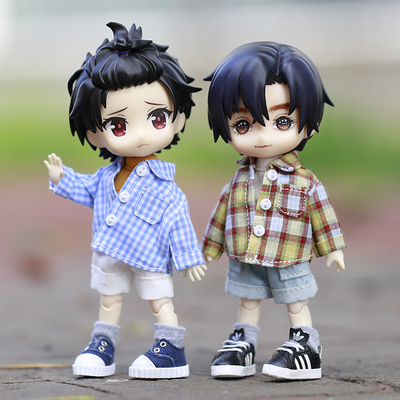 taobao agent ob11 baby clothes molly YMY little trouble 12 points bjd GSC body can wear plaid shirt jacket