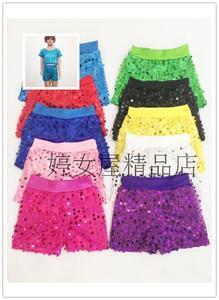 Trẻ em trai và cô gái cổ vũ trang phục sequin quần short lớn polka dot polka dot trượt căng quần mỏng