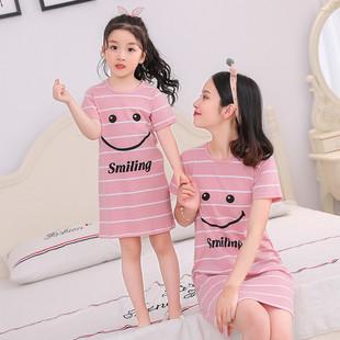【100%纯棉】夏季大人儿童纯棉亲子睡裙