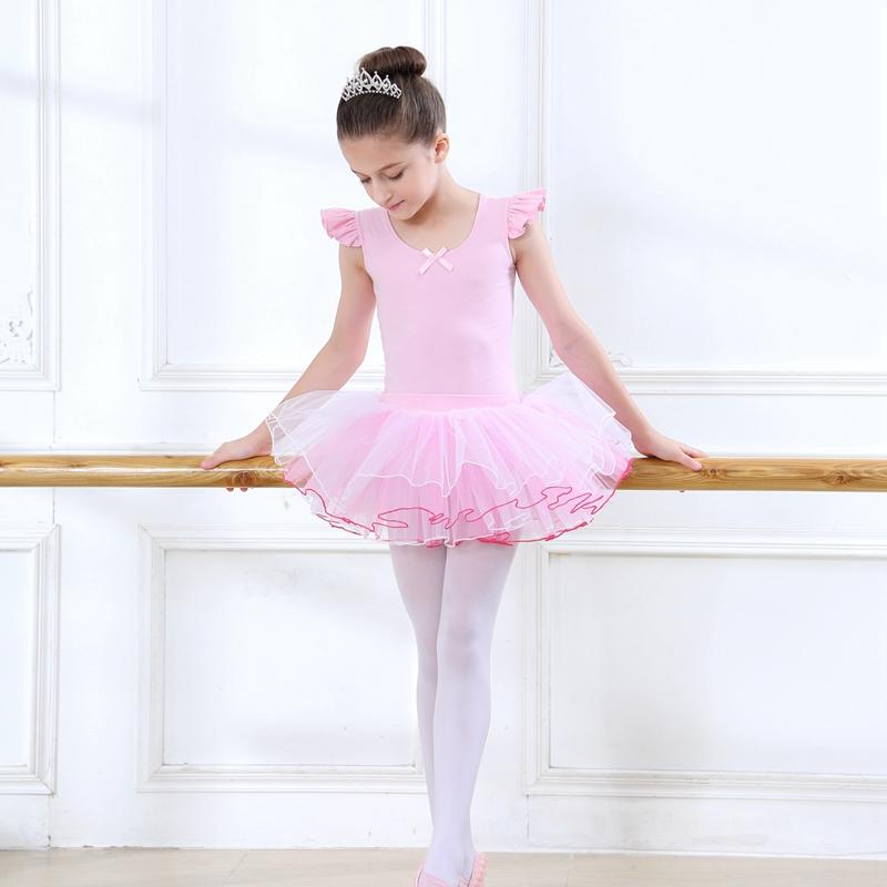 舞蹈服儿童芭蕾舞裙女童练功服春夏长袖幼儿舞蹈衣蓬蓬纱裙演出服