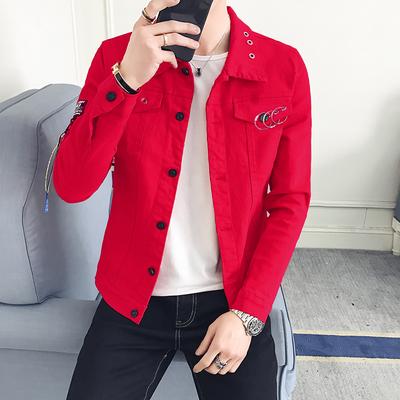 Denim áo khoác nam 2018 mới xu hướng tính cách áo khoác nam mùa xuân và mùa hè sinh viên Hàn Quốc Mỏng đẹp trai scorpion Áo khoác