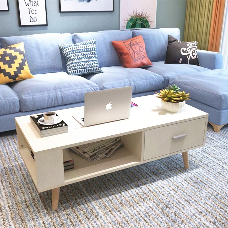 Bàn cà phê hình chữ nhật hình chữ nhật căn hộ nhỏ phòng khách gỗ veneer đồ nội thất hiện đại Trung Quốc bàn cà phê gỗ