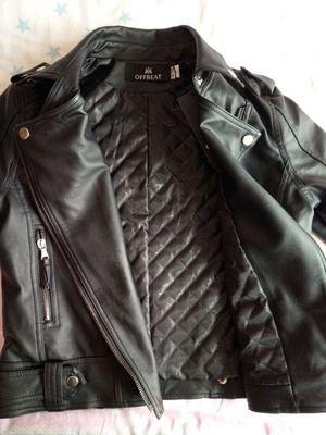Da phụ nữ đoạn ngắn mùa xuân và mùa thu pu leather jacket thời trang Hàn Quốc kích thước lớn cơ thể phụ nữ ve áo xe máy sinh viên áo khoác da Quần áo da