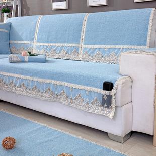 欧式沙发垫四季通用布艺棉麻沙