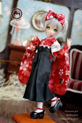 taobao agent 【Meow House】+ Chi Fei + Taisho graduated kimono cute maid baby clothes MDD MSD 4 points BJD