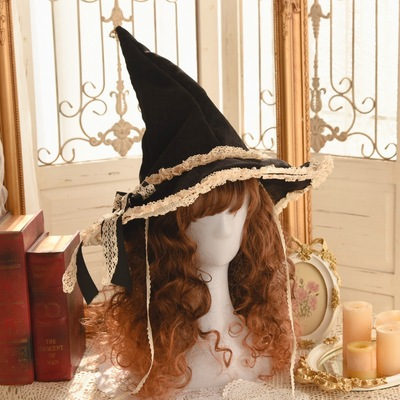 taobao agent 【Spot】Witch game Halloween dress up witch hat small things