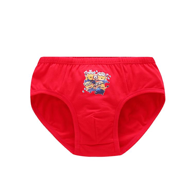 Gà năm cậu bé màu đỏ tam giác quần lót bông phim hoạt hình màu đỏ đồ lót 2 gói chàng trai quần