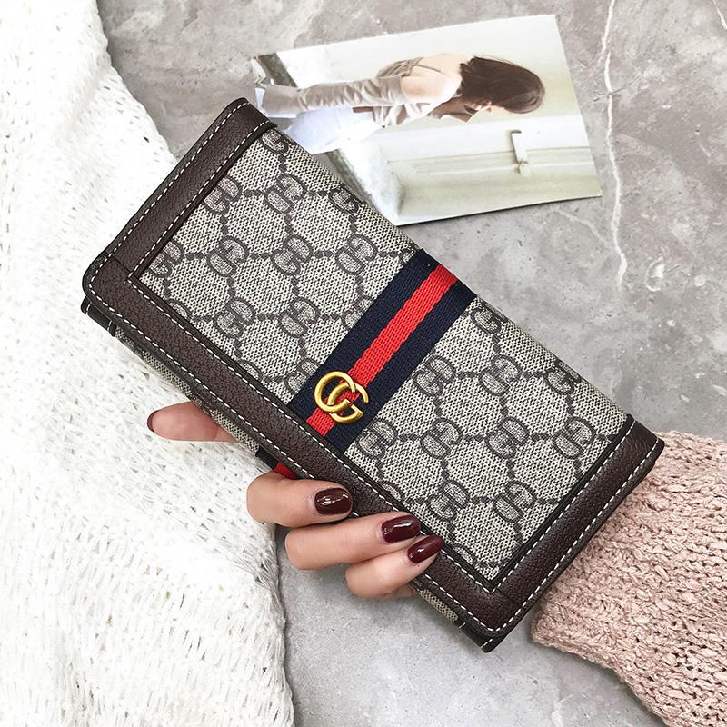 2017新款欧美大牌钱包女长款大容量手机时尚钱夹手拿包潮