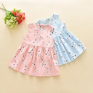 Quần áo trẻ em cô gái ăn mặc 2018 mùa hè Hàn Quốc phiên bản của bông ngắn tay hoa công chúa váy văn học fan trẻ em váy 0910