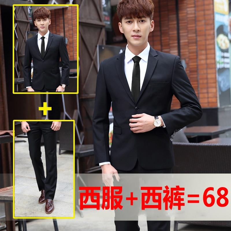 Phù hợp với nam giới mùa xuân và mùa hè thanh niên kinh doanh bình thường chuyên nghiệp ăn mặc Hàn Quốc phiên bản của Slim với chú rể váy cưới
