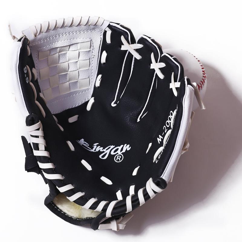 Găng tay bóng chày 9 inch 10 inch 11 inch găng tay bóng mềm trẻ em và người lớn trẻ đào tạo người lớn pitcher đầy đủ
