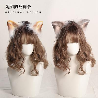 taobao agent Sanhua cat ear headdress hand-made beast ears headband JK Lolita hairpin cute Japanese lolita hair accessories