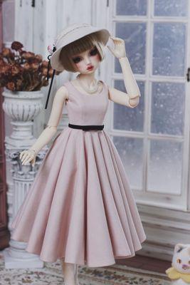 taobao agent 【Yu Yu Sauce】BJD/SD baby clothes retro suit/dress *1950 suit* blue pink 2 colors