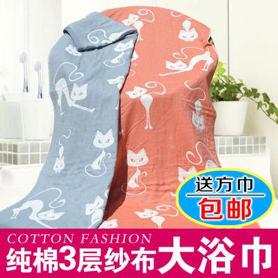 紗布浴巾純棉三層 成人男女抹胸大毛巾寶寶蓋毯嬰兒床單抱被包郵