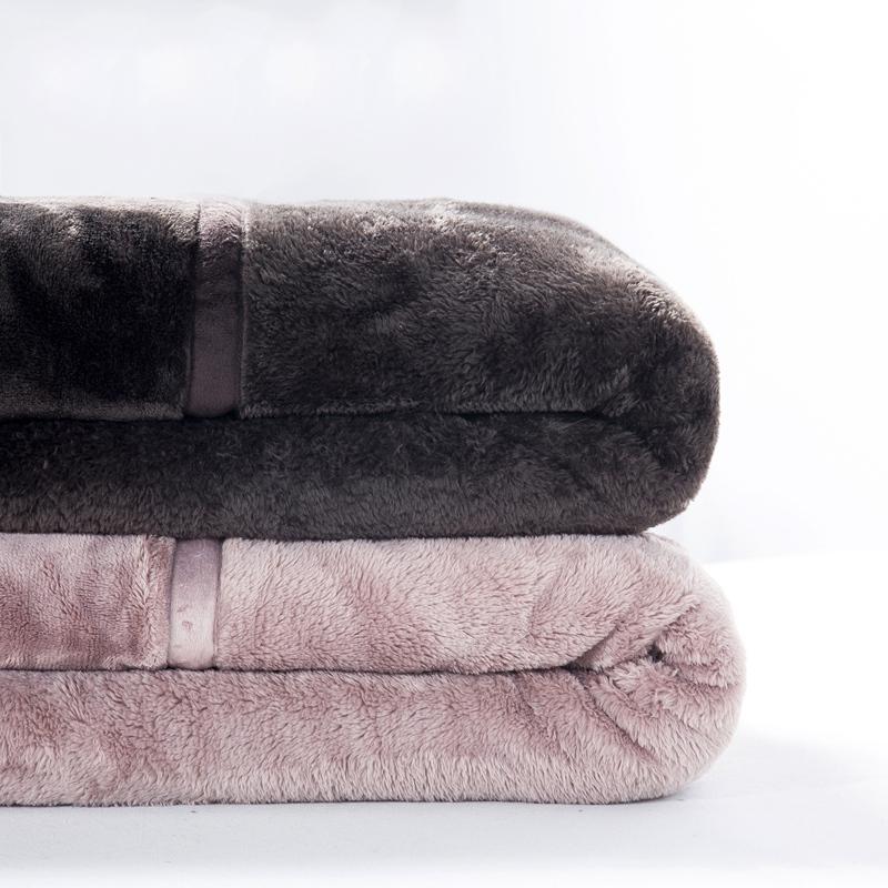 出口良品无印法兰绒毛毯双层加厚拉舍尔毯子单双人儿童珊瑚绒床单_淘宝优惠券