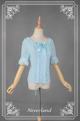 taobao agent Soufflesong exclusive design【Klury】Summer lolita love little wild short-sleeved shirt