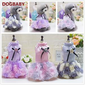 Mùa thu mỏng phần chó nhỏ váy chó mèo váy cưới váy thú cưng váy VIP Teddy quần áo - Quần áo & phụ kiện thú cưng