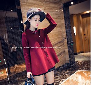 3688#韩版 气质A字斗篷上衣娃娃款蝴蝶结外套(实价)