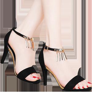 专柜正品 高跟鞋 休闲鞋浅口女凉鞋 DS12-1417P125 最低销售价158