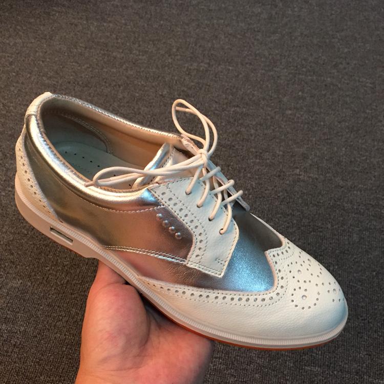 New da trắng giày golf nữ golf Bullock England khắc phẳng giày thường giày thể thao