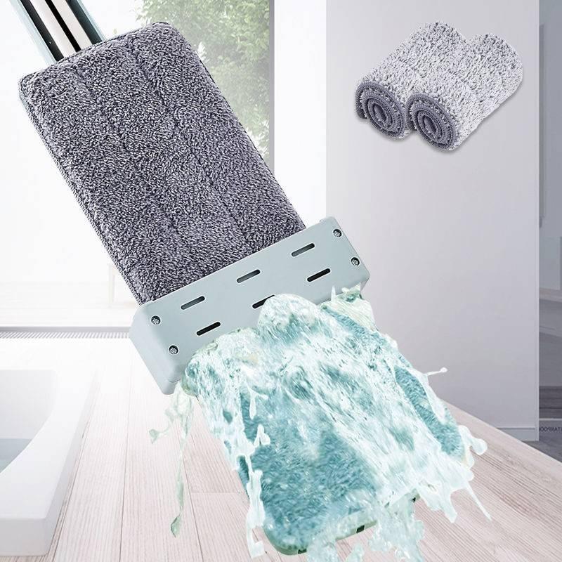 【加粗加大】免手洗平板拖把家用