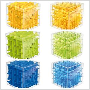 Cube âm thanh nổi Mê Cung Rubik của Cube Trong Suốt Vàng Xanh Xanh 3dD Stereo Mê Cung Bóng Câu Đố của Trẻ Em Đồ Chơi Thông Minh