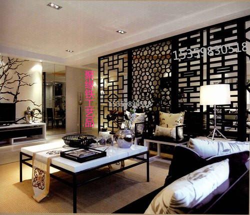 Trung quốc rèn màn hình sắt nhà hàng phòng khách phân vùng Mỹ sáng tạo sàn đẹp hoa cửa sổ hiên