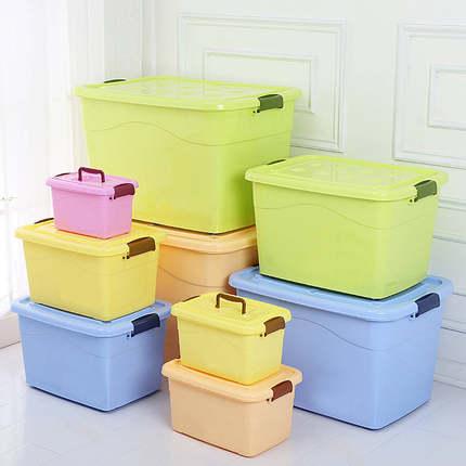 收纳箱塑料特大号小号储物箱衣服被子玩具收纳盒车载家用