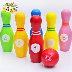 2-3-4-8 tuổi trẻ em của bowling đồ chơi thiết lập màu xanh lá cây bằng gỗ lớn bé trò chơi cha mẹ và con hoạt động quà tặng