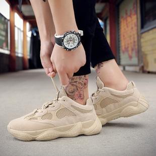 新款男鞋潮流透气休闲网布鞋